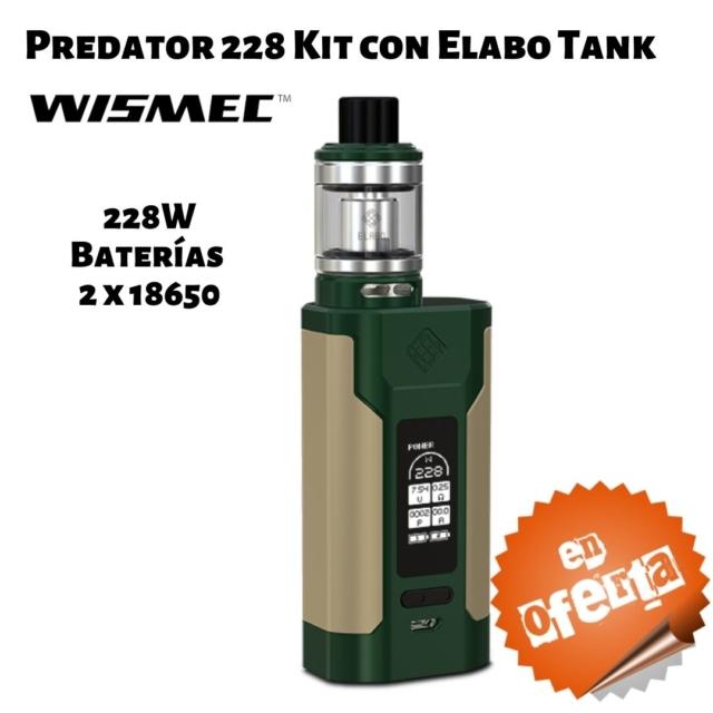 Predator 228 Kit con Elabo Tank de Wismec en Best Vapor - Oferta