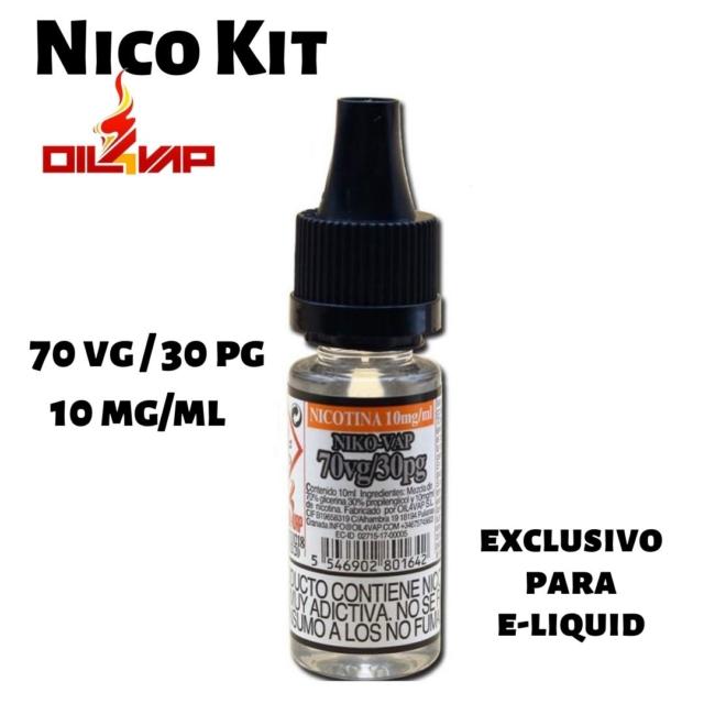 Nico kit nicotina vapeo 70vg-30pg 10mg de oil4vap en Best Vapor