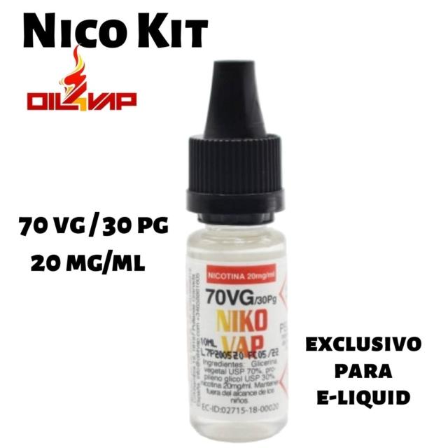 Nico kit nicotina para vapeo 70vg-30pg 20mg de oil4vap en Best Vapor