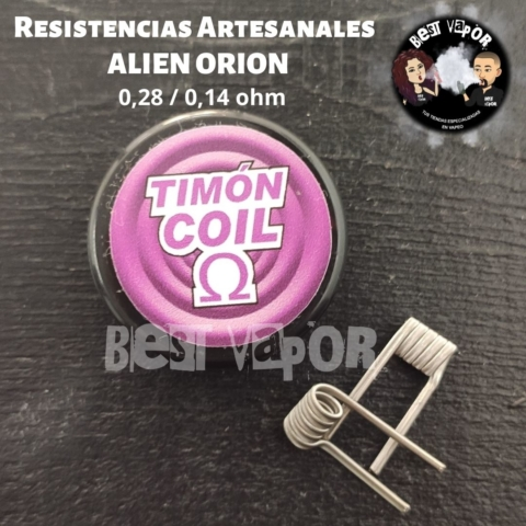 Resistencias Artesanales ALIEN ORION (0,28-0,14 ohm) de Timon Coil en Best Vapor