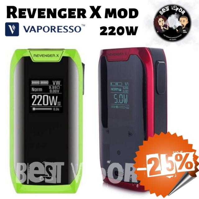 Revenger X Mod 220w de Vaporesso en oferta en Best Vapor