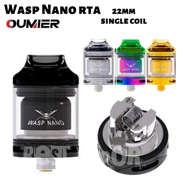 Wasp nano RTA 22 mm single coil de Oumier en Best Vapor