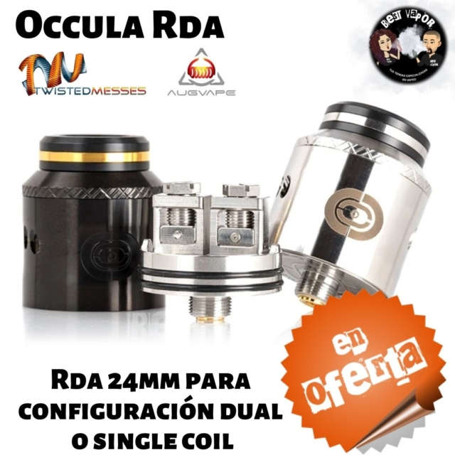 Occula RDA de Twisted Messes y Augvape en Best Vapor - Oferta