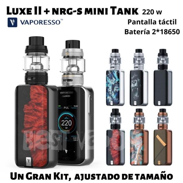 Luxe 2 con NRG S mini tank de vaporesso en Best Vapor