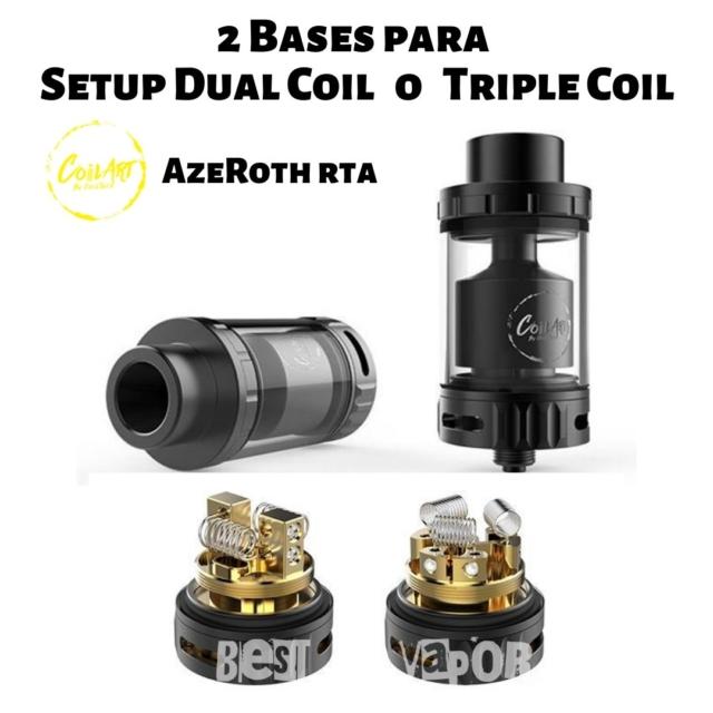 Azeroth RTA CoilArt Setup Dual o Triple Coil en Best Vapor