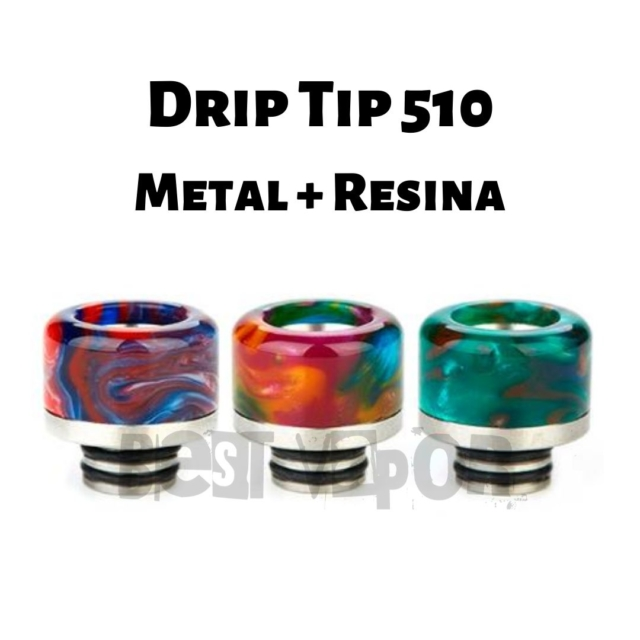 Drip Tip 510 Metal Resina en Best Vapor
