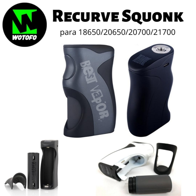 Recurve Squonk Bottom Feeder Mod Wotofo en Best Vapor