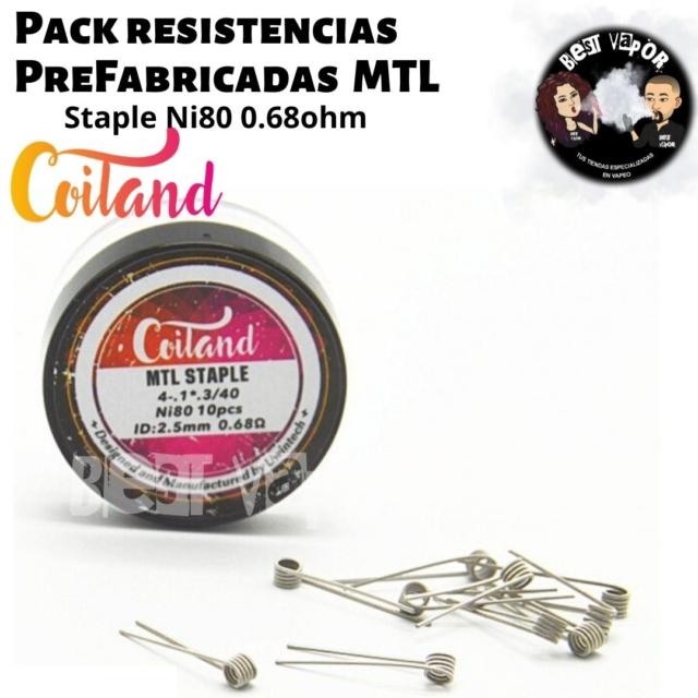 Resistencias Prefabricadas MTL Staple Ni80 0.68ohm de Coiland en Best Vapor