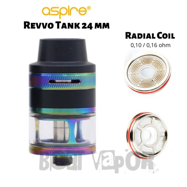 Revvo Tank 24 mm Aspire Radial Coil en Best Vapor