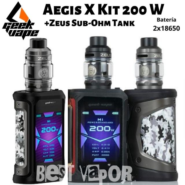 Aegis X Kit con Zeus Sub-Ohm Tank de Geekvape en Best Vapor