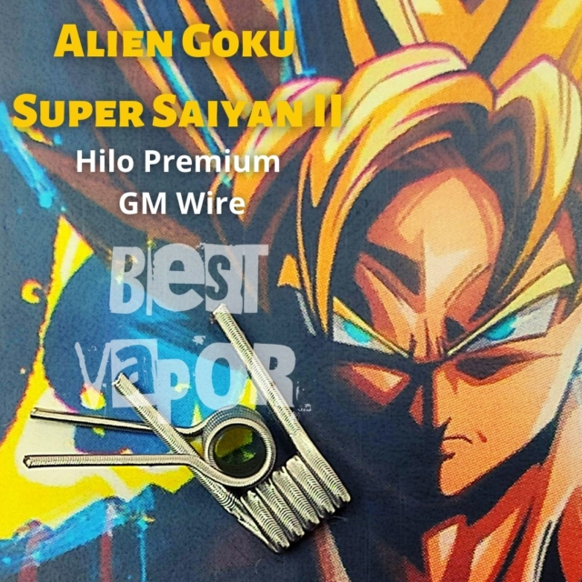 Alien Goku Super Saiyan II GM Wire de Timon Coil en Best Vapor