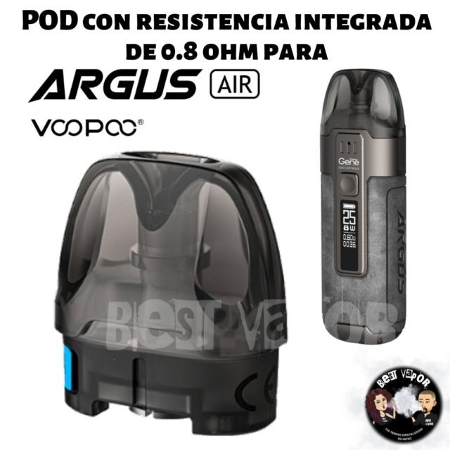 Cartucho Pod con resistencia integrada 0,8 ohm para Argus Air - VooPoo - en Best Vapor