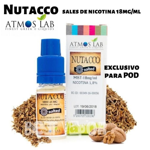 Nutacco sales de nicotina de Atmos Lab en Best Vapor