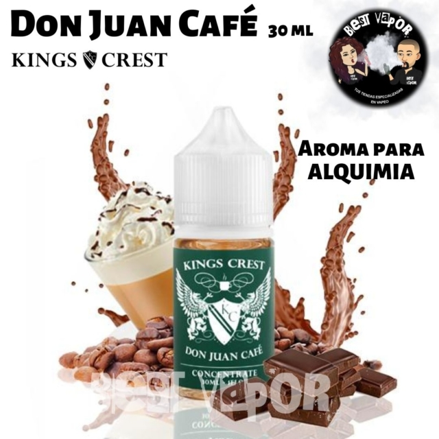 Aroma Don Juan Café 30 ml de Kings Crest en Best Vapor