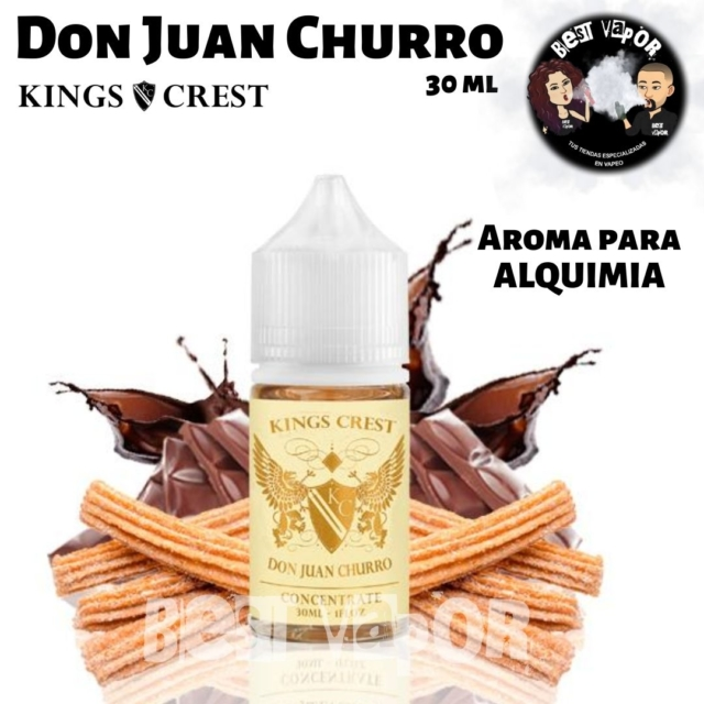 Aroma Don Juan Churro 30 ml de Kings Crest en Best Vapor
