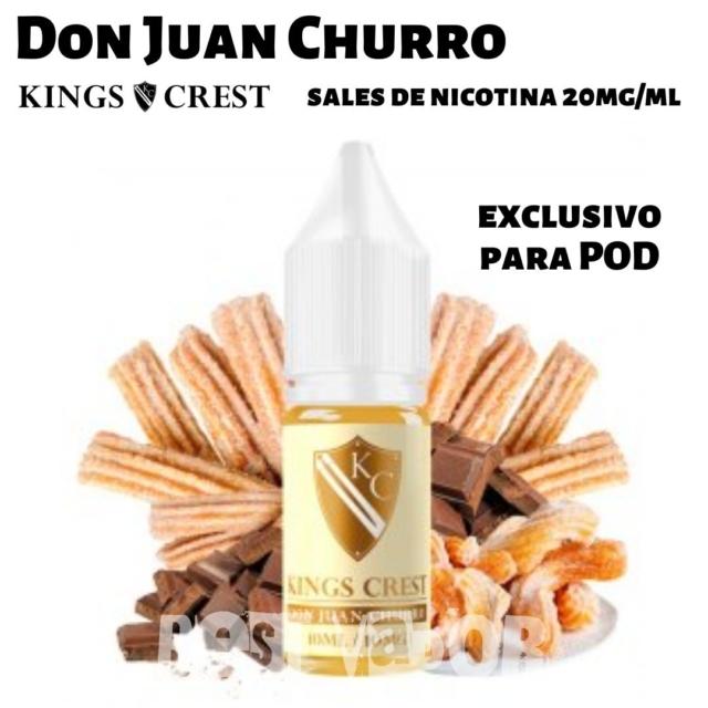 Don Juan Churro Sales de Nicotina de King Crest en Best Vapor