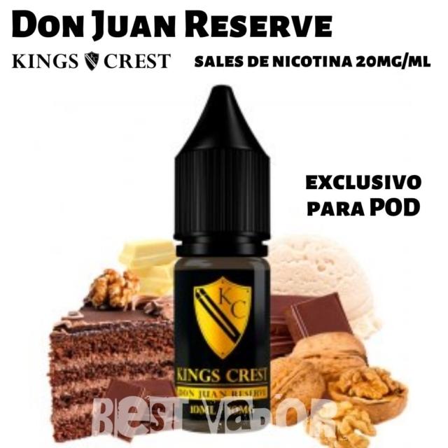 Don Juan Reserve Sales de Nicotina de King Crest en Best Vapor