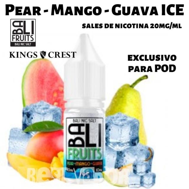 Pear - Mango - Guava Ice Salts Sales de Nicotina de Bali Fruits - Kings Crest en Best Vapor