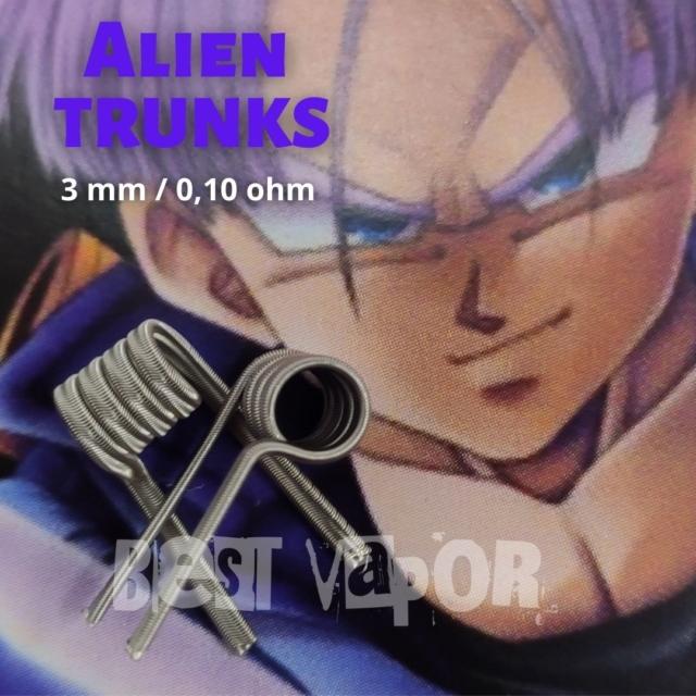 Alien Trunks 0,10 ohm Resistenciales Artesanales de Timon Coil en Best Vapor