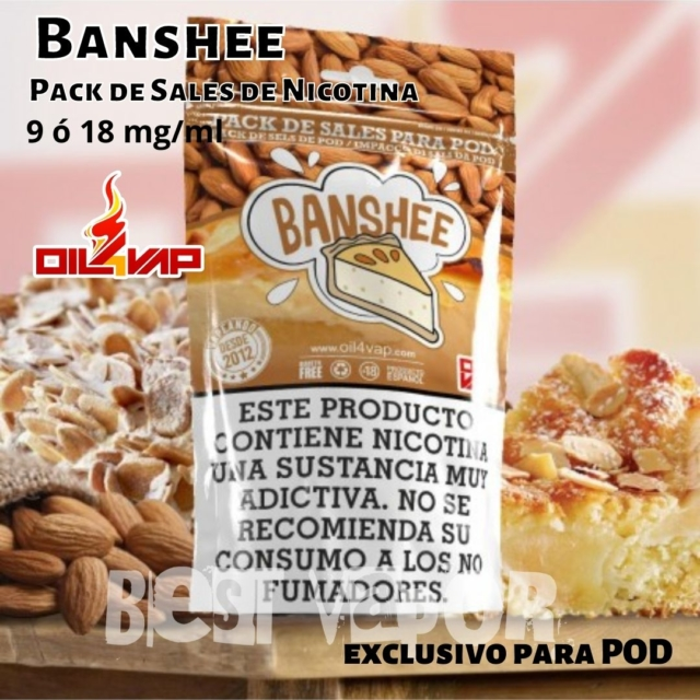 Banshee pack de sales de nicotina de oil4vap en Best Vapor