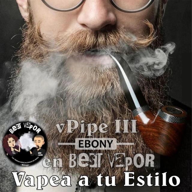 vPipe 3 Ebony (pipa de vapeo) de VapeOnly en Best Vapor
