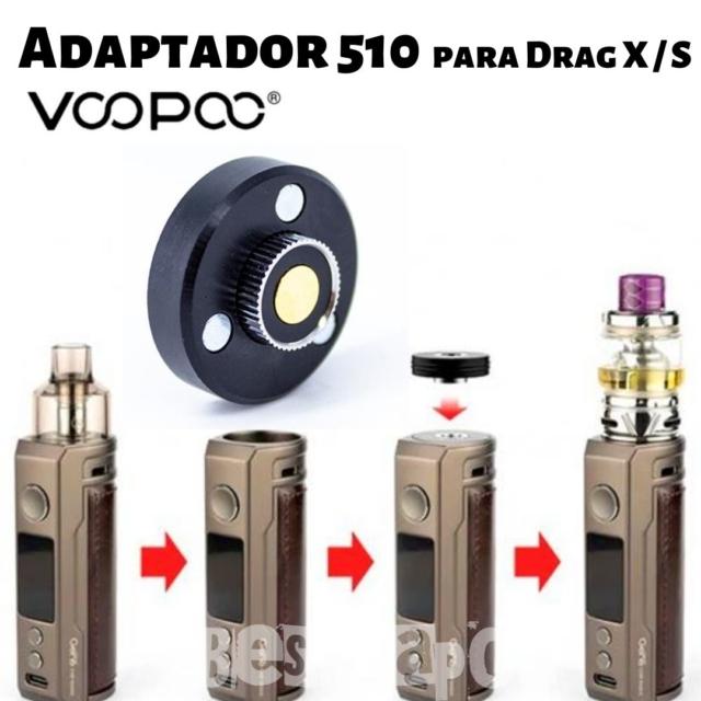 Adaptador 510 para Drag X-S de VooPoo en Best Vapor