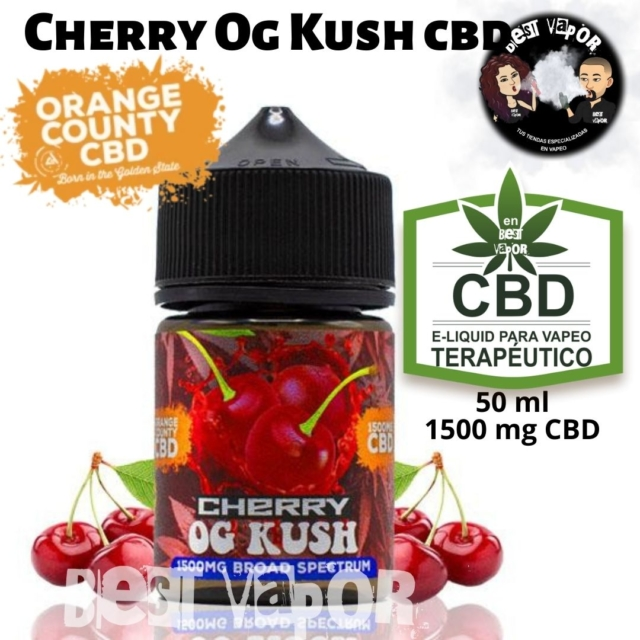 Cherry Og Kush CBD 50 ml 1500 mg de Orange County CBD e-liquid en Best Vapor