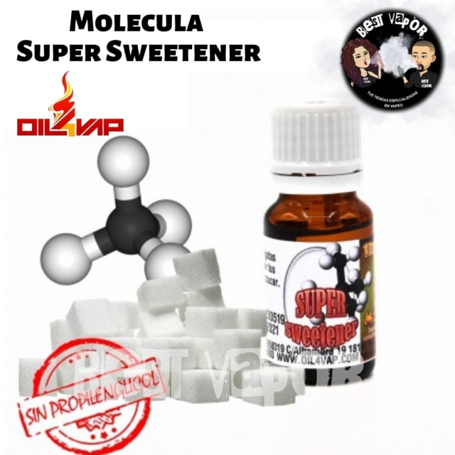 Molécula Super Sweetener 10 ml de Oil4Vap en Best Vapor