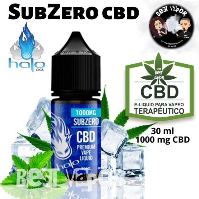 SubZero CBD 30 ml 1000 mg de Halo e-liquid en Best Vapor