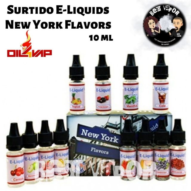 Surtido E-Liquids New York Flavors de Oil4Vap en Best Vapor