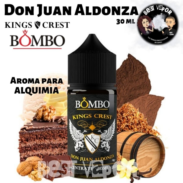 Don Juan Aldonza Aroma 30 ml de Kings Crest y Bombo en Best Vapor