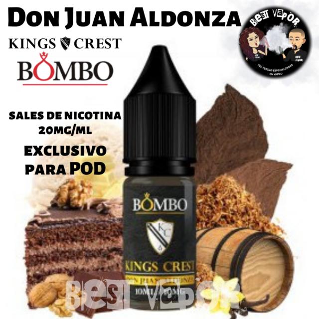 Don Juan Aldonza Sales de nicotina 10 ml de Kings Crest y Bombo en Best Vapor