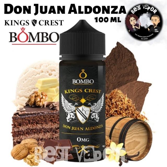 Don Juan Aldonza e-liquid 100 ml de Kings Crest y Bombo en Best Vapor