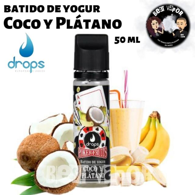 Batido de Yogur de Coco y Plátano de Drops en Best Vapor