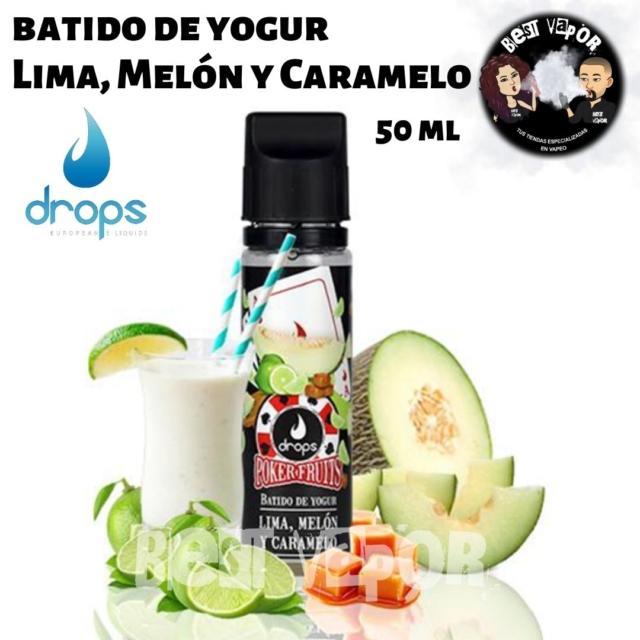 Batido de Yogur de Lima, Melón y Caramelo de Drops en Best Vapor