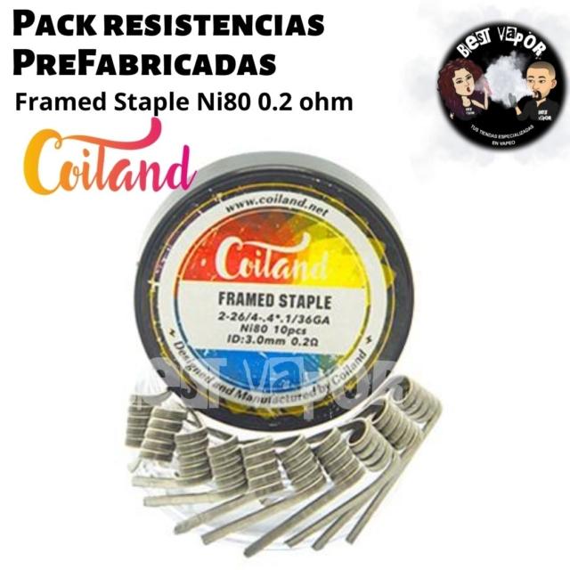 Pack resistencias PreFabricadas 0,2 ohm 3mm de Coiland en Best Vapor