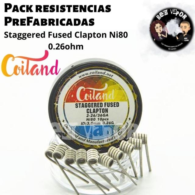 Pack resistencias PreFabricadas 0,26 ohm 3mm de Coiland en Best Vapor