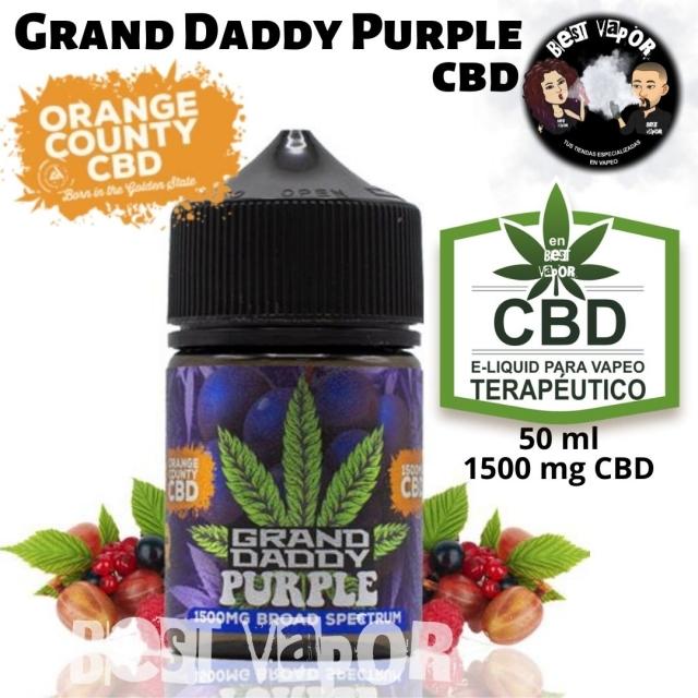 Grand Daddy Purple CBD 50 ml 1500 mg de Orange County CBD e-liquid en Best Vapor