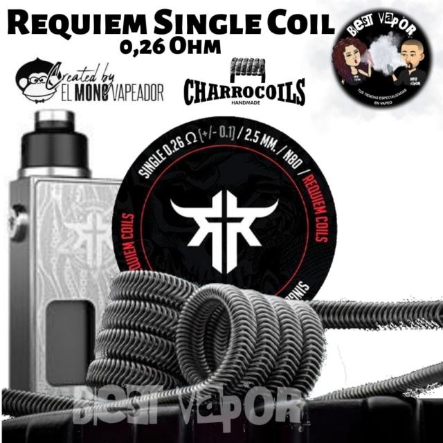 Requiem Single Coils de El Mono Vapeador y Charro Coils- 0,26 ohm- en Best Vapor