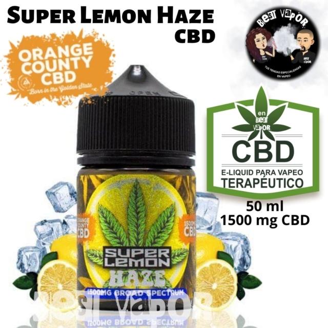 Super Lemon Haze CBD 50 ml 1500 mg de Orange County CBD e-liquid en Best Vapor