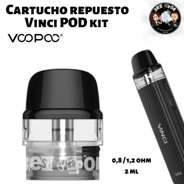 Cartucho Repuesto 0,8-1,2 ohm para Vinci Pod Kit 800 mAh de VooPoo en Best Vapor