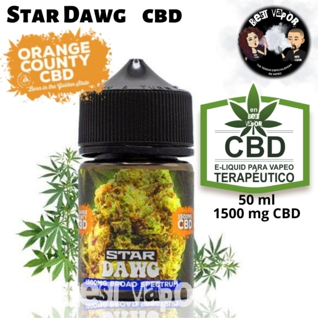 Star Dawg CBD 50 ml 1500 mg de Orange County CBD e-liquid en Best Vapor