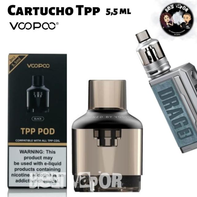 Depósito Cartucho TPP 5,5 ml de VooPoo en Best Vapor