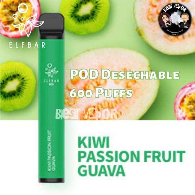 POD Desechable 600 inhalaciones -Kiwi, fruta de la pasión y guayaba- en Best Vapor