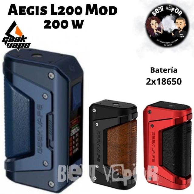 Aegis L200 Mod 200W - GeekVape en Best Vapor