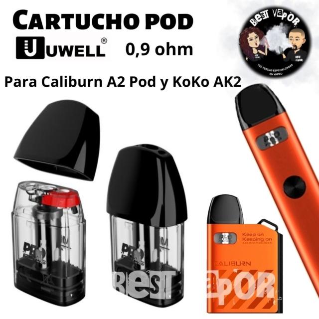 Cartucho repuesto Caliburn A2 KoKo AK2 Pod de Uwell en Best Vapor