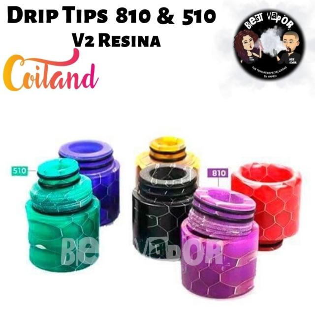 Coiland Drip Tip 810 & 510 V2 de Coiland en Best Vapor
