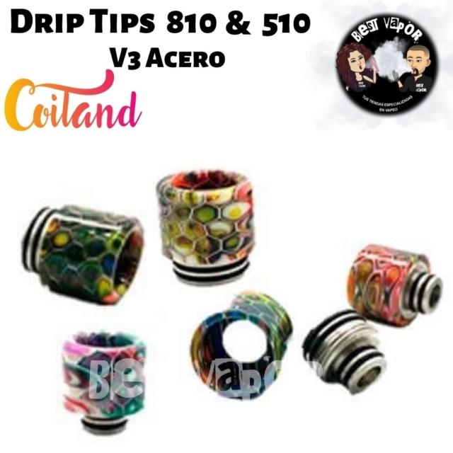 Coiland Drip Tip 810 & 510 V3 de Coiland en Best Vapor
